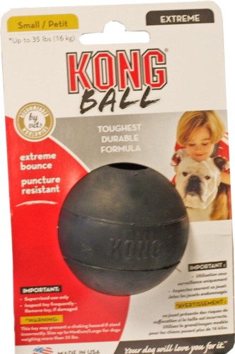 Kong x-treme rubber bal zwart small