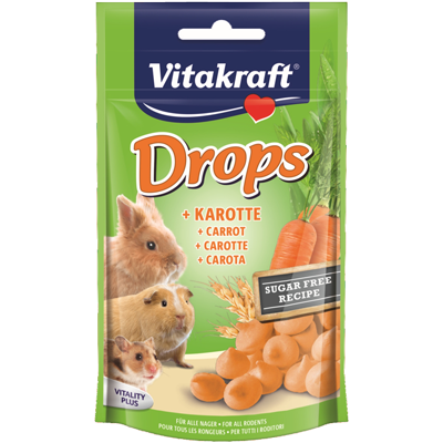 Vitakraft worteldrops knaagdier 75gr