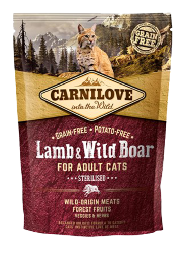 Carnilove lamb & wild boar sterilised 40
