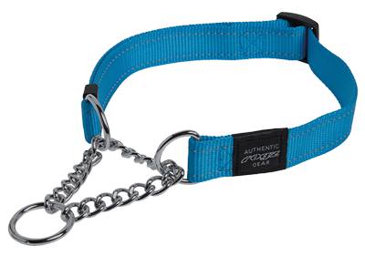 Snake obedience choker turquoise 32-44cm