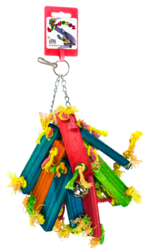 Birdeeez parakeet toy wood