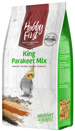 Hobby first king grote parkiet mix 1 kg